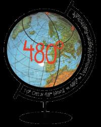 Globus-480 Grad transparent-mittel